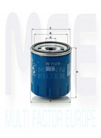 W712 8 Oil Filter