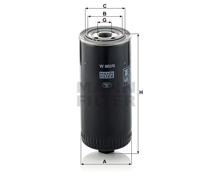 W962 6 Oil Filter
